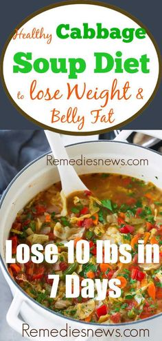 Easy Cabbage Soup Diet Recipes for Weight Loss - Lose 10 lbs in 7 Days How much weight did you lose on the cabbage soup diet? Try this 7 day cabbage soup diet recipes to lose weight and belly fat fast - lose 10 lbs in 7 days. Weight Loss Meals, Weight Loss Soup, Weight Loss Drinks, Easy Weight Loss, Easy Cabbage Soup, Cabbage Diet, Cabbage Soup Recipe Weight Loss, 7 Day Cabbage Soup Diet Recipe, Recipes For Cabbage
