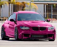 Pink BMW #CarFlash #FightBreastCancer
