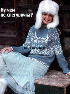 Бесплатная схема вязания жаккардового пуловера