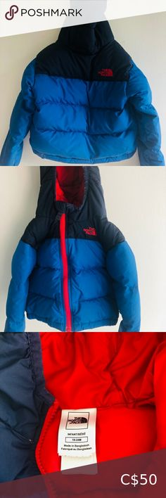 Northface jacket 18-24 months Two-tone blue puffy northface jacket for baby Sz. 18-24 months Excellent used condition. Slight pilling on hood see pics. No damages Super warm and adorable! The North Face Jackets & Coats Puffers Down Parka, Down Coat, North Face Girls, The North Face, Puffy Jacket, Hooded Jacket, Northface Jacket, Black Puffer, Baby Winter
