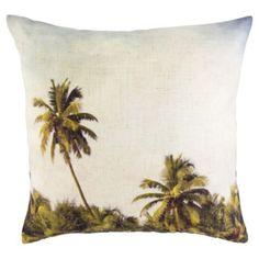 Palm Tree Scene Cushion