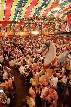 Oktoberfest In Munich, Germany :) Festivals Around The World, Places Around The World, Oh The Places You'll Go, Travel Around The World, Cool Places To Visit, World Festival, Beer Festival, Munich Oktoberfest, Celebration Around The World