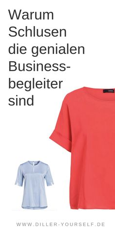 Was ist denn bitte eine Schluse? Die Schluse ist eine Mischung aus Bluse und T-Shirt. Sie hat den Schnitt eines T-Shirts und den Stoff einer Bluse. Dadurch ist sie sehr praktisch und passt zu vielem. Ich zeige dir meine 5 Lieblingsteile. #Businessoutfit #Schluse #Businessmode #Bürooutfit #Büromode Business Outfit Frau, Business Outfits, Outfits Casual, Rock Outfits, Fashion Office, Mode Ab 50, Business Mode, Blazer