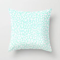 Winter Mint Leopard Throw Pillow by M Studio - $20.00