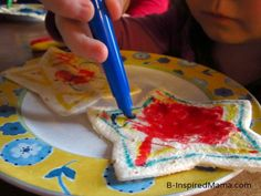 Make quesadillas even more fun by letting the kids draw on them!