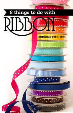 If you're anything like us, you have tons of ribbon odds and ends lying around. Today's #TuesdayTutorial gives you eight creative and easy ways of using up your stash of extras!