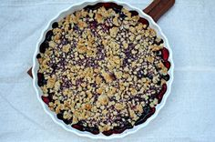 Smuldrepai // with oats and berries Acai Bowl, Oatmeal, Berries, Pie, Sweets, Snacks, Breakfast, Desserts, Food
