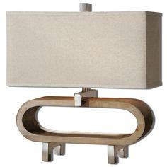 Uttermost 26576-1 Medea Wood Accent Lamp