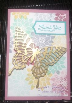 Butterfly Framelit : Flourishing Phrases Stampin' Up :Sandra Mastello : Violet vs Purple