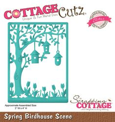 CottageCutz Spring Birdhouse Scene (Elites)
