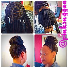 Braids / Perimeter Braided Bun / Box Braids