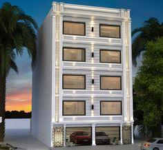 Bungalow House Design, House Front Design, Modern House Design, Narrow House Designs, Mansion Interior, Villa Design, Facade Architecture, Facade House, House Layouts