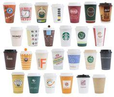 チェーンからコンビニまでカフェカップ26個を集めてみました!How many of these have you tried #packaging PD