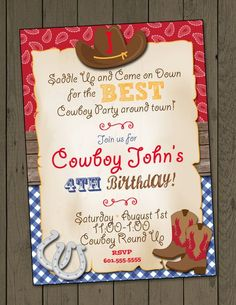 36 best cowboy invitations images on pinterest cowgirl party