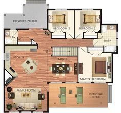 3 bed 1.5 bath 1415 sq ft house. I like the look of the exterior the most