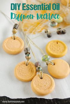 DIY Clay Essential Oil Diffuser Necklace Tutorial
