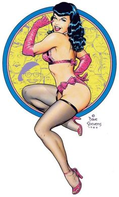 Bettie Page, Long John Silver, Foo Fighters Poster, Dave Stevens, Comic Art, Comic Books, Olivia De Berardinis, Lesbian Love, Pin Up Art