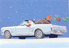 Christmas Car, Christmas Quotes, Christmas Greetings, Xmas, Christmas Ideas, 1967 Mustang, Mustang Cars, Ford Mustangs, 1964 Ford