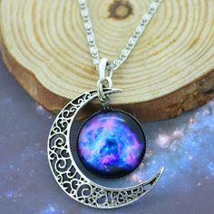Moon & Galaxy Necklace