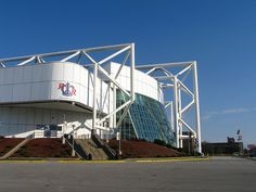 Kemper Arena - Located on the former site of the Kansas City Stockyards, Kemper Arena was an attempt to bring industry and innovation back to the West Bottoms. It was completed in 1974 at a cost of $22 million (with a 1997 expansion weighing in at $23 million). It did enjoy mild success for a number of years, housing the Kansas City Scouts from 1974-1976 (NHL), The Kansas City Kings from 1974-1985 (NBA), and the 1976 Republican National Convention.