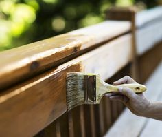 When you want to do an outdoor space makeover, one of the easiest upgrades is to stain your wood deck. Here are the how-tos to stain like a pro. Best Deck Stain, Deck Stain Colors, Paint Colors, Floating Deck, Wood Exterior Door, Water Based Stain, Cool Deck, Got Wood, Photo On Wood