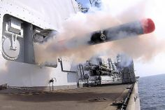 A Stingray Training Variant Torpedo is fired from Type 23 frigate HMS Westminster during an exercise.