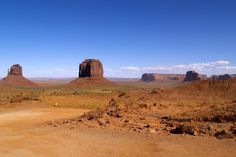 Classic View of Monument Valley Tribal Park, Arizona