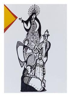 """Iluminura"", Técnica mista sobre papel, 42 x 30 cm, 2014"