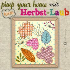 Herbst-Laub Stickdateien ✪ 10x10 ✪ von ginihouse3 auf DaWanda.com