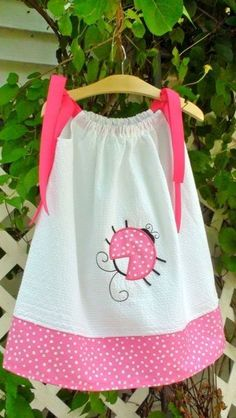 pink ladybug pillowcase dress!