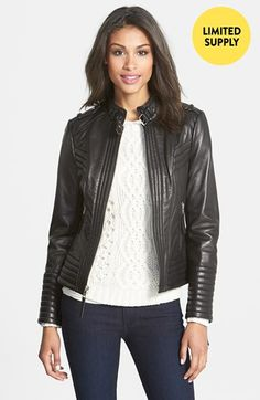 every closet needs a leather jacket! | #sale #nordstromsale @nordstrom
