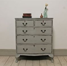 Distressed Victorian Serpentine Fronted Drawers. - For Sale | Distressed But Not Forsaken