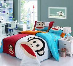 Sock Monkey Squared Bedding Set