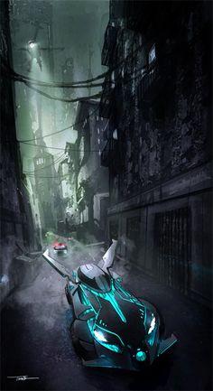 Batmobile concept - Thang Le