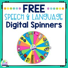 Free Speech and Language Digital Spinners   No Print Teletherapy Activities