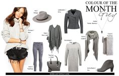 Grey | Grau | Autumn | Fall | hat | hut | collage | Fashion | Fashionblog | justmyself | jeans topshop | strickkleid | strickpullover | Tasche | cape | schal | scarf | clutch | ankle boots | Herbst outfit | autumn outfit | fall outfit | inspiration