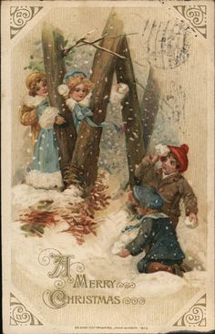 Divided Back Postcard To Wish You A Merry Christmas Children Merry Christmas, Old Time Christmas, Old Fashioned Christmas, Victorian Christmas, Christmas Toys, Christmas Greetings, Christmas Girls, Vintage Christmas Photos, Christmas Pictures