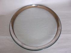 """Annieglass Roman Antique Platinum 12"""" Buffet Plate, signed, 1999, VGUC, #4 #Modern"""