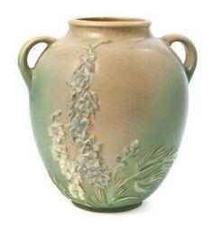 Roseville Pottery - Experimental - #AAPA - #larkspur