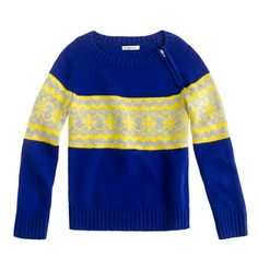 Girls' Fair Isle stripe sweater. Love this! Perfect for the holidays