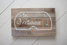 Vintage Camper Wood Sign Pallet Sign by NineTwelveDesigns on Etsy