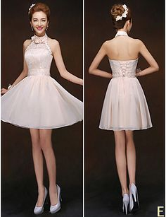 mezclar& vestidos de partido corto de mini gasa / y encaje 6 estilos vestidos de dama de honor (2840149) 2840149 2016 – $37.99