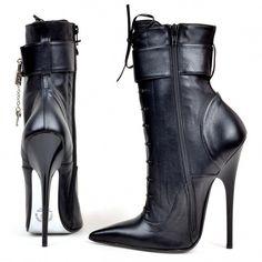 0f38504595ab Boots - 868-2443 - Vitello nero  Highheels Bottines, Chaussure, Bottes À