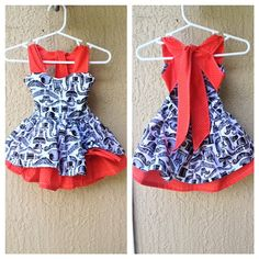 Baby girl and toddler retro-style hipster mustache dress sizes newborn to 4t available on Etsy, $39.00