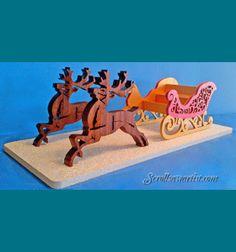 Scroll Saw Patterns :: Noël :: traîneaux et traîneaux :: Sleigh & rennes :: Vacances -