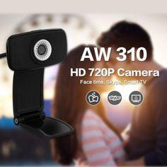 AUSDOM AW310 720P HD 33fps Webcam Computer PC Web Camera Skype for Skype Win 7