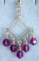 do's and don'ts about jewelry wire on previous pages  20G for earrings, 18G for Bracelet components and 18 or 16 G for necklace components.   20 or 22G for making wrapped bead links in bracelets and necklaces.