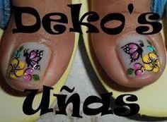 Resultado de imagen para deko uñas para pies