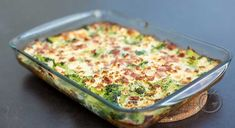 Brokkoliform Recipe Boards, Lchf, Eating Well, Mozzarella, Low Carb Recipes, Quiche, Macaroni And Cheese, Nom Nom, Good Food