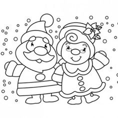 mr mrs claus coloring page free christmas recipes coloring pages for - Free Printable Holiday Coloring Pages